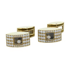 Chopard Happy Diamond Gold Cufflinks