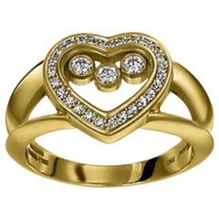 Chopard Happy Diamond Happy Heart Ladies Ring 824502-0110