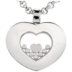 Chopard Happy Diamond Heart 18 Karat White Gold Pendant Necklace
