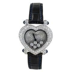 Chopard Happy Diamond Heart Shaped White Gold Wristwatch