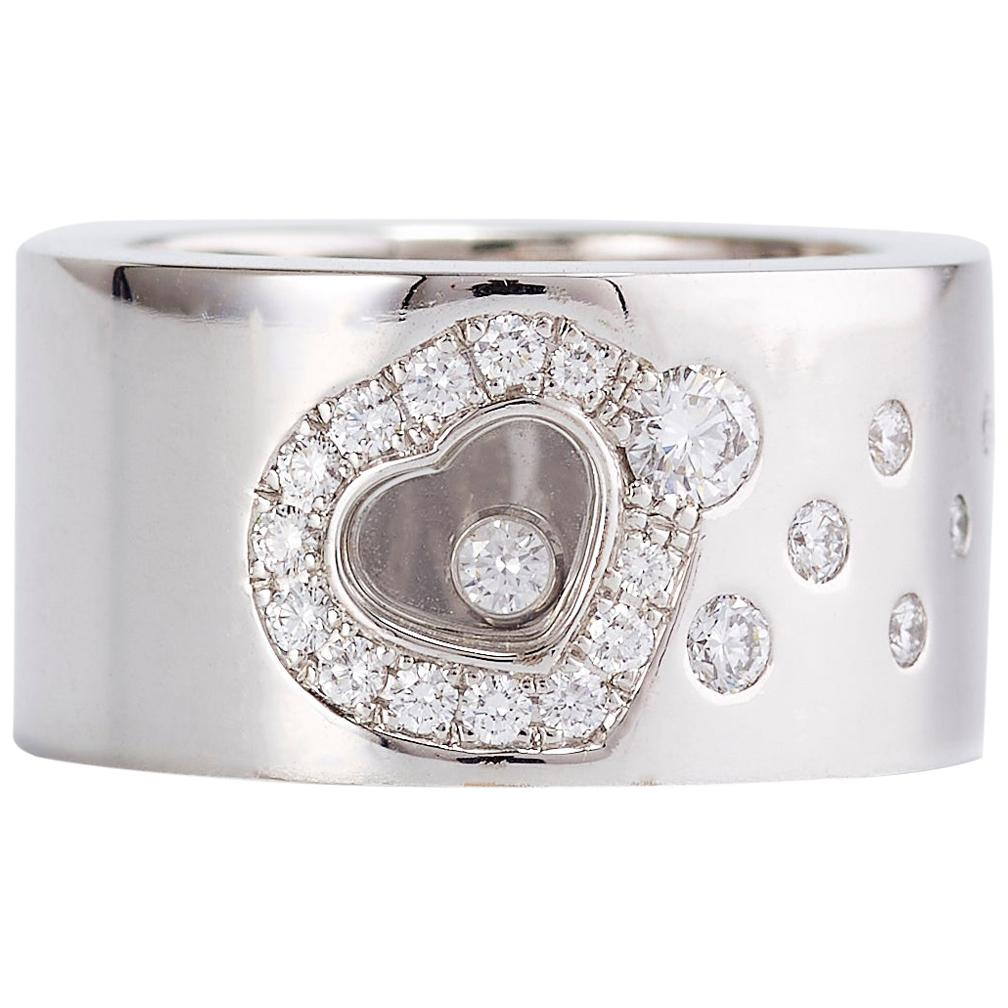 Chopard Happy Diamond Heart White Gold Band Ring