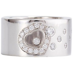Chopard Happy Diamond Heart White Gold Band Ring