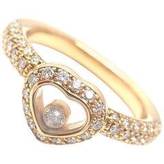 Chopard Happy Diamond Heart Yellow Gold Band Ring