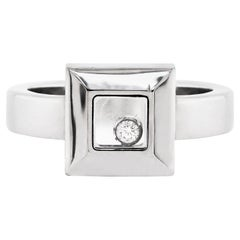 Chopard Happy Diamond Icons 18 Carat White Gold Ring