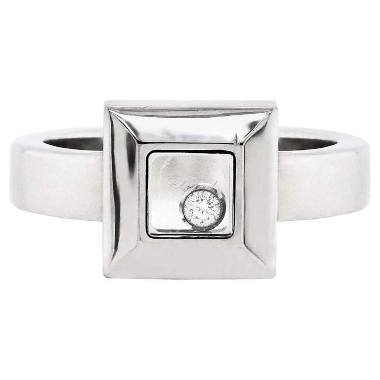 Chopard Happy Diamond Icons 18 Carat White Gold Ring For Sale