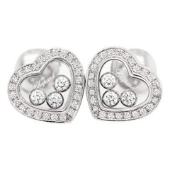 Chopard Happy Diamond Icons Heart 18 Carat White Gold Earrings