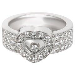 Chopard Happy Diamond Ring in 18 Karat White Gold 1 Carat