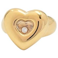 Chopard 'Happy Diamond' Yellow Gold Heart Ring