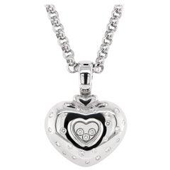 Chopard Happy Diamonds 18 Carat White Gold Diamond Pendant Necklace