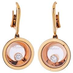 Chopard Happy Diamonds 18 Karat Rose Gold Earrings