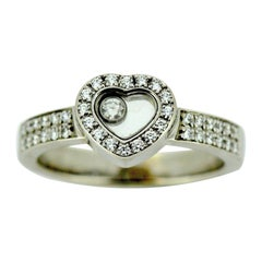 Chopard Happy Diamonds 18 Karat White Gold Ladies Ring