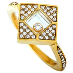 Chopard Happy Diamonds 18 Karat Yellow Gold 0.25 Carat Diamond Ring
