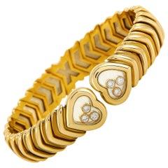 Chopard Happy Diamonds 18 Karat Yellow Gold Diamond Bracelet