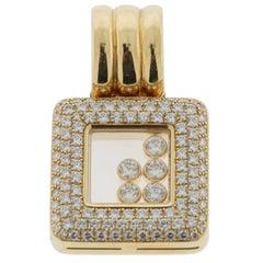 Chopard Happy Diamonds 18 Karat Yellow Gold Large Size Pendant