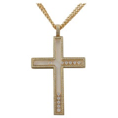 Chopard Happy Diamonds Cross Necklace Pendant