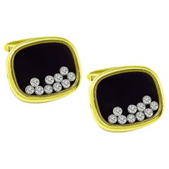 Chopard Happy Diamonds Gold Cufflinks