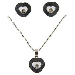 Chopard Happy Diamonds Gold Heart Earrings and Pendant Set