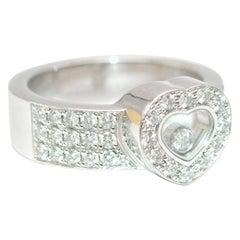 Chopard Happy Diamonds Heart Ring in 18 Karat White Gold - Size 6