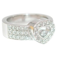 Chopard Happy Diamonds Heart Ring in 18 Karat White Gold