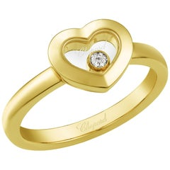 Chopard Happy Diamonds Icon 18 Karat Yellow Gold Heart Ring Size M US 61/2