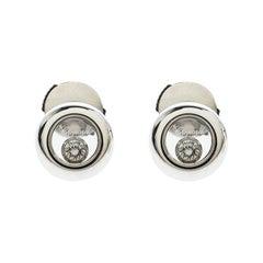 Chopard Happy Diamonds Icons 18k White Gold Stud Earrings