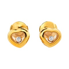 Chopard Happy Diamonds Icons 18K Yellow Gold Stud Earrings