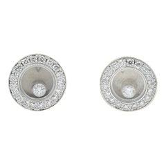Chopard Happy Diamonds Icons Earrings 83A017-1201 18 Karat White Gold