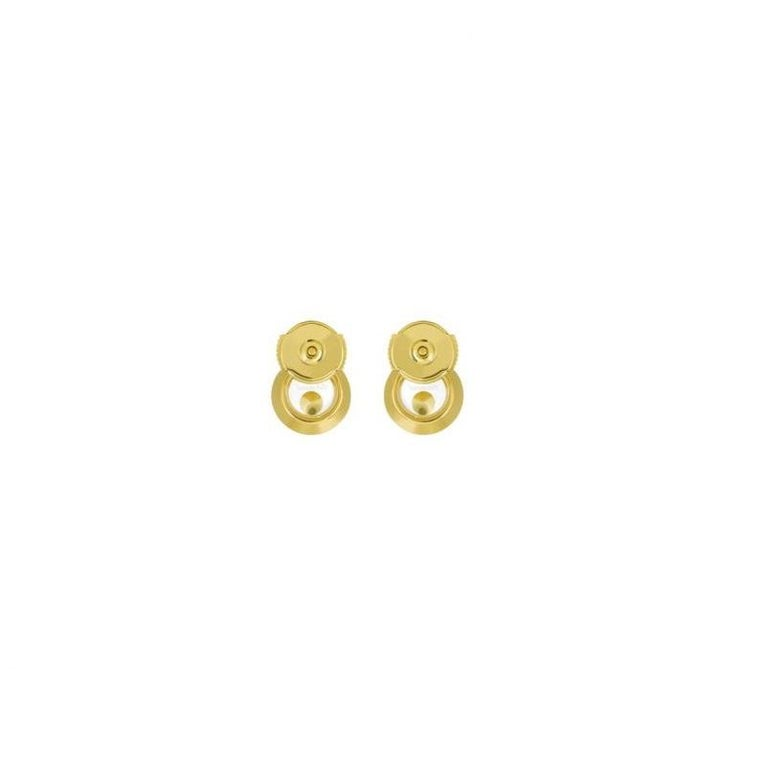 Women's or Men's Chopard Happy Diamonds Icons Earrings Pins 83a017/0001 For Sale