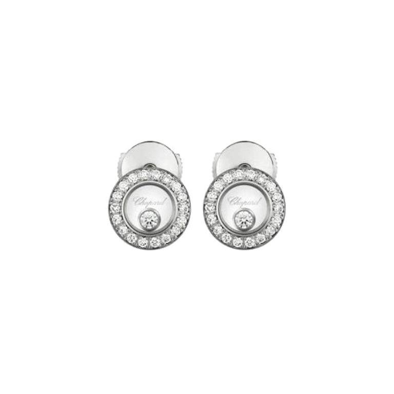 Chopard Happy Diamonds Icons Earrings Pins 83a017/1201 For Sale