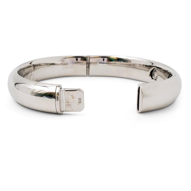 Round Cut Chopard 'Happy Diamonds LOVE' White Gold Bracelet