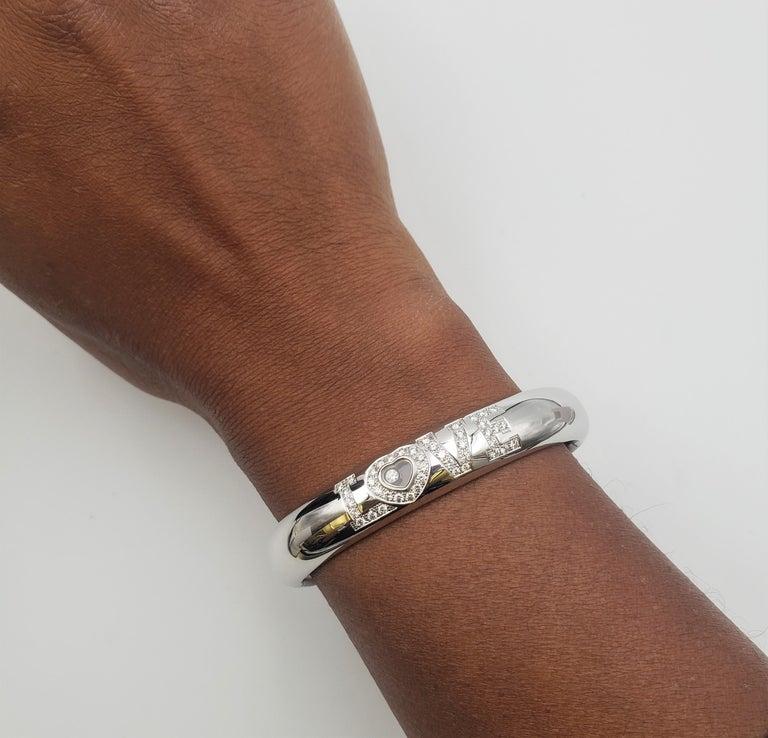 Chopard 'Happy Diamonds LOVE' White Gold Bracelet 1