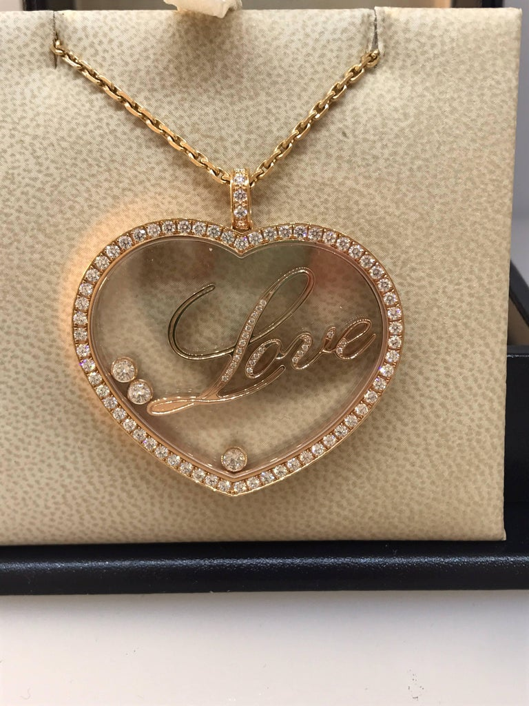 Chopard happy diamonds rose gold large heart pendant necklace with chopard happy diamonds rose gold large heart pendant necklace with mozeypictures Gallery