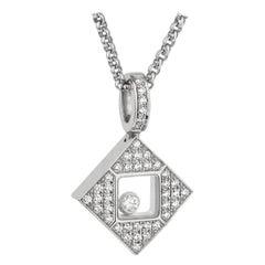 Chopard Happy Diamonds Square White Gold Necklace