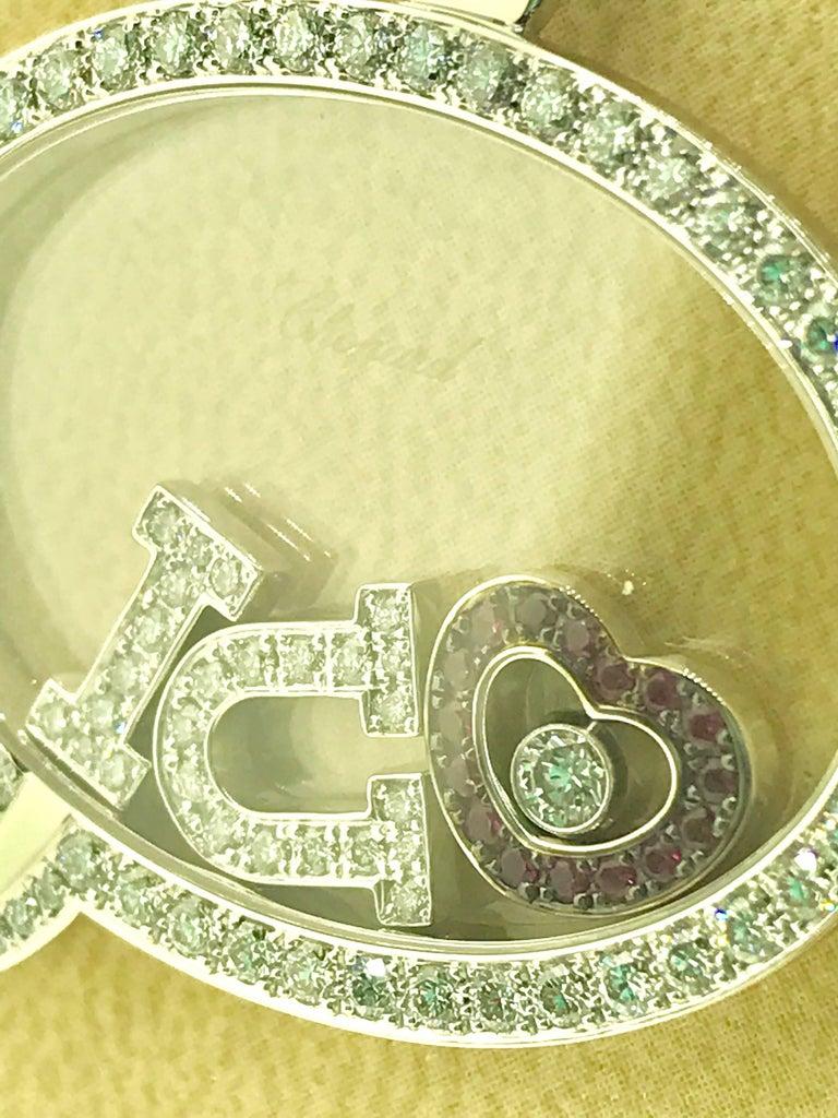 Chopard Happy Diamonds White Gold Diamond and Rubies