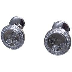 Chopard Happy Diamonds White Gold Diamond Earrings 83/9562 Brand New
