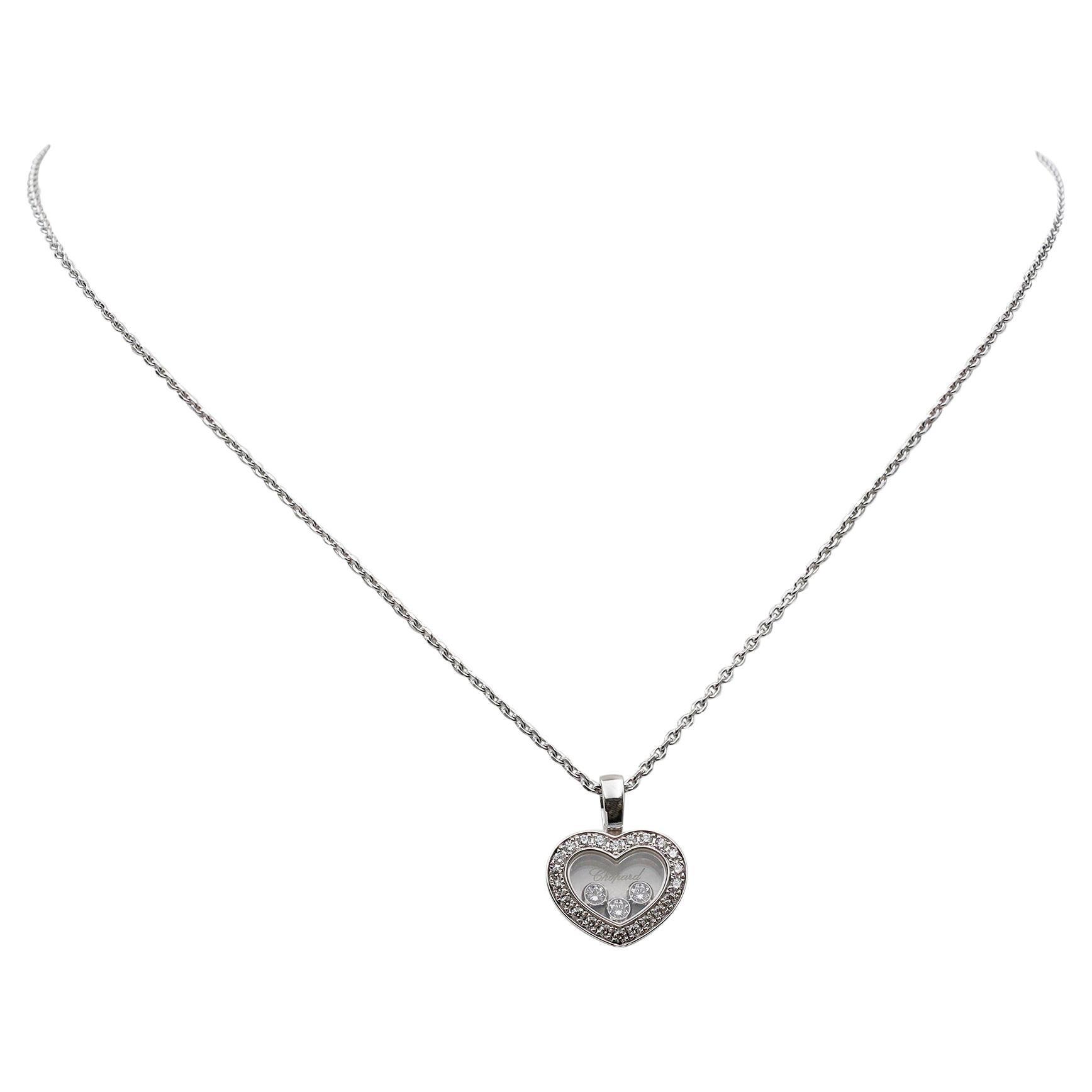 Chopard Happy Diamonds White Gold Heart Pendant Necklace