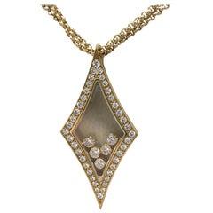 Chopard Happy Diamonds Yellow Gold Diamond Pendant Necklace