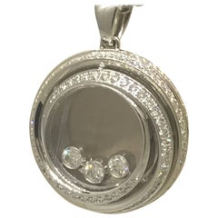 Chopard Happy Emotions White Gold and Diamond Pendant 79/9217, New