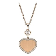 Chopard Happy Hearts Golden Hearts Pendent 79A007/5921