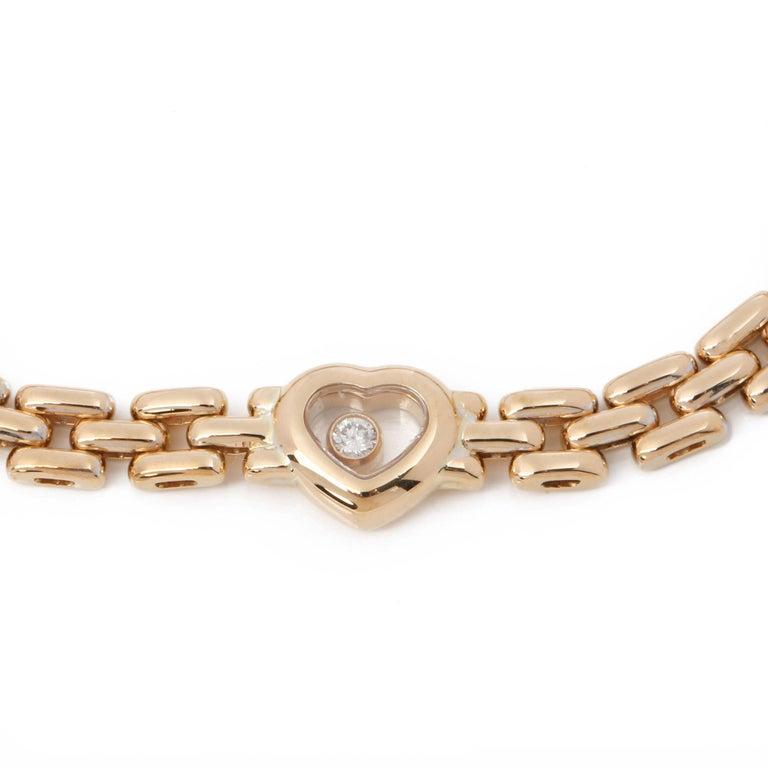 Contemporary Chopard Happy Hearts Link Bracelet For Sale