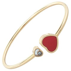 Chopard Happy Hearts Red Stone Diamond 18K Rose Gold Bangle S