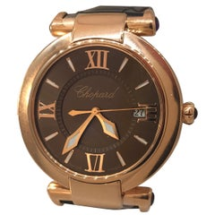 Chopard Happy Imperiale Rose Gold Brown Dial Ladies Watch 38/4221-5009