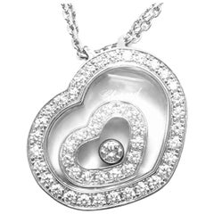Chopard Happy Spirit Diamond Heart White Gold Pendant Necklace