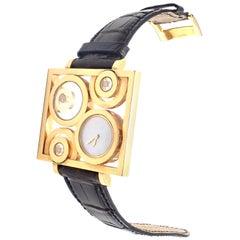 Chopard Happy Spirit Floating Diamond Yellow Gold Large Watch