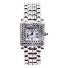 Chopard Happy Sport 18 Karat White Gold Diamond Watch Ref. 491-1