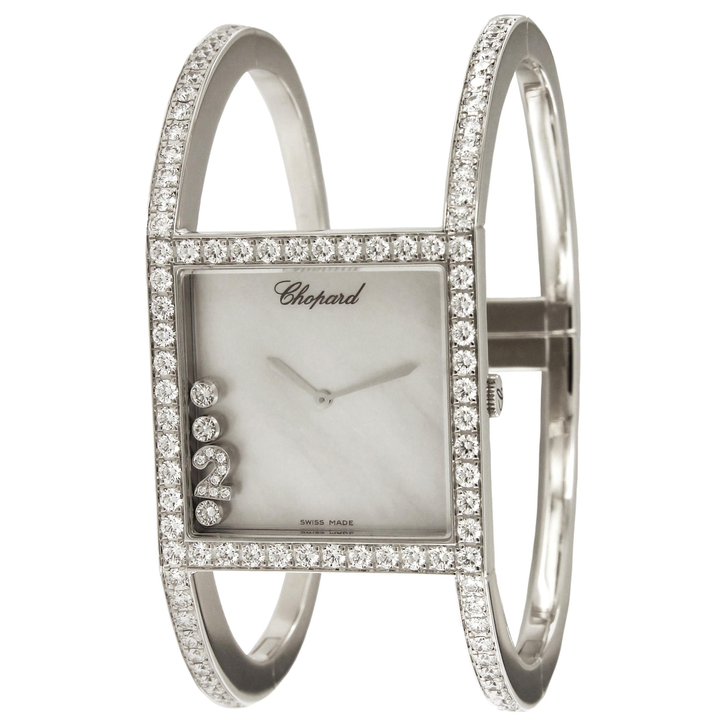 Chopard Happy Sport 18 Karat White Gold Limited Diamond Watch