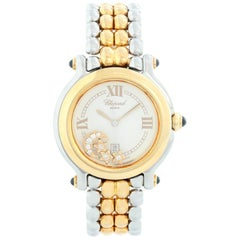 Chopard Happy Sport 18 Karat Yellow Gold and Stainless Steel Watch