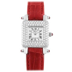 Chopard Happy Sport 18 Karat White Gold Diamond Ladies Watch 419-1