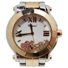 Chopard Happy Diamond Sport 18kt Rose Gold & Stainless Steel Watch