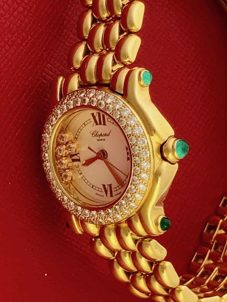 Chopard Happy Sport 27-6151-0005 Ladies Pre-Owned In Excellent Condition For Sale In Dallas, TX
